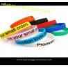 Custom Promotional Wrist Band,Adjustable Silicon Wristband,Promotional Silicon Bracelet for sale