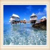 China small scale Prefabricated Hotel Overwater Bungalow With Light Steel Frame on sale