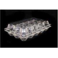 China Food Grade Hinged Lid Clear Plastic Egg Cartons Customized Size / Shape on sale