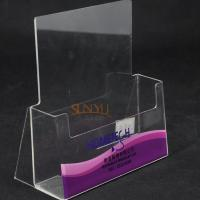 Quality Single Layer Clear Acrylic Brochure Holder for sale