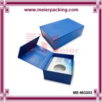 Wholesale Magnet Closure Rigid Paper Gift Wine Box/Navy Blue Wine Paper Box ME-MG003 from china suppliers