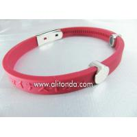 Custom silk print debossed embossed rubber silicone bracelet with logo print engrave silicone wristband for sale