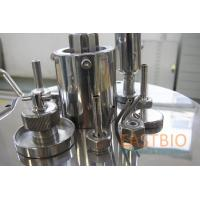 China Jacketed Lab Scale Bioreactor Mechanical Stirred Glass Fermenter Automatic Control for sale