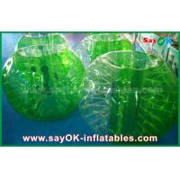 China Green TPU Material Inflatable Sports Games Human Bubble Football Soccer Ball on sale