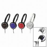 Buy cheap Portable Audio Earphones/Headphones, Available in Five Colors from wholesalers