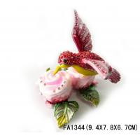 China Pewter Bird Animal Shaped Jewelry Boxes on sale