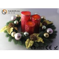 Wholesale Advent Wreath With Led Candles Set Of 3 Blow On / Off Multi Function from china suppliers