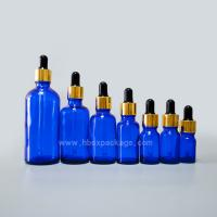Wholesale 5ml-100ml Cobalt Blue Aromatherapy Essential Oil Glass Container Bottle With Dropper from china suppliers
