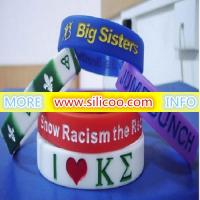 embossed silicone wristbands for sale