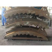 Wholesale GX140MnCr 14-2 Wear-resistant Castings , Grinding Path Impact Plate Schist Iron Ore Crusher from china suppliers