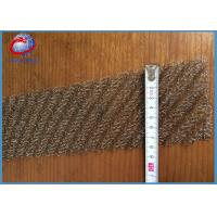 Wholesale Compressed Multiple Wires Knitted Wire Mesh For Gas / Liquid Filtering from china suppliers