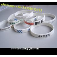 factory cheap custom different kinds of silicon wristband/bracelets from china for sale