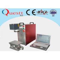 Buy cheap Red Fiber Laser Marking Machine Maintenance Free With 1064nm Laser Wavelength from wholesalers