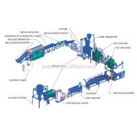 Wholesale high quality 500kg/h pet bottle crushing washing line from china suppliers