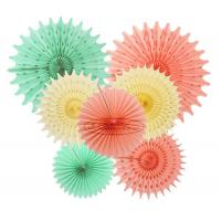 Wholesale Solid Color Snow Paper Fan  Decorations Paper  Backdrop Decor from china suppliers