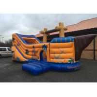 Wholesale Fantastic Themed Inflatable Pirate Ship Bounce House Games With Slippy Slide from china suppliers