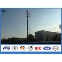 Wholesale Hot Dip Galvanized Steel Polygonal Electrical Power Suspension Pole from china suppliers