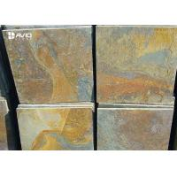 Rusty Yellow Natural Slate Floor Tiles Non Slip Wear Resistant OEM / ODM Service for sale