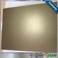 Wholesale Golden Scrub Aluminum Flat Plate Based On PE Layer Decoration Building from china suppliers