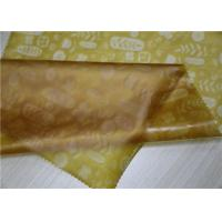 China Gold TPU Leather Printed Flower Pattern For Garment Bags 0.15 Mm Thickness on sale