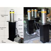 Wholesale Traffic Guard Automatic Rising Bollards for Driveways , Steel Vehicle Barrier Posts from china suppliers