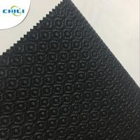 China Artificial Black Leather Fabric , Recycled Leather Fabric Vinyl Secondary Fabric on sale