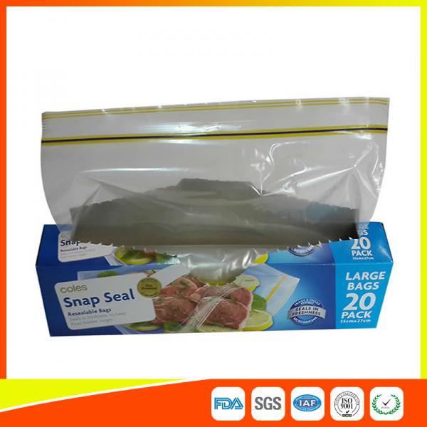 Quality Snap Seal Reusable Sandwich Bags For Coles Supermarket Large Size 35*27cm for sale