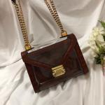 China New Michael Kors handbag Whitney Purple Crocodile Leather Chain Shoulder women's Bag for sale