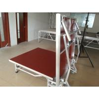 Wholesale Red Light Weight Aluminum Folding Stage With Wheels Strong Loading Capability from china suppliers