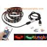 USB Powered 5V RGB Black Flexible LED Strip Lights for TV Back Lighting , Desk , Trucks for sale