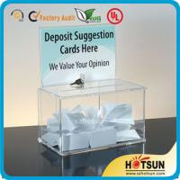 Wholesale Waterproof Lockable Acrylic Donation / Suggestion Boxes with Card Holders from china suppliers