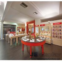 Wholesale Mobile phone retail store Display tables by Wood painting with Glass and Wall cabinets for showroom fixture from china suppliers