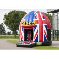 China Funny Disco Bouncer House Union Jack,Potable PVC Inflatable Jumping House on sale