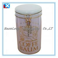 Quality Colorful Coffee Metal Storage tin box for sale