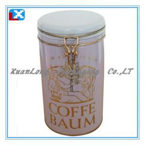 Quality Colorful Coffee Metal Storage tin box for sale