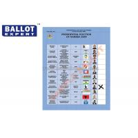 Wholesale C2S Uncoated Green Ballot Paper , Wood Pulp White Voting Paper With Your Own Logo from china suppliers