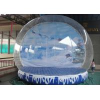 Buy cheap Giant Inflatable Snow Globe Logo Printing Eco Friendly With Colorful Base from wholesalers