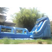 Wholesale 21FT Tall Outdoor Inflatable Slide And 32ft Long Slip N Slide Inflatable / Wave With Pool from china suppliers
