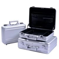 China MS-M-01 S Anodize Silver Aluminum Briefcase Aluminum Attache Tool Case for sale