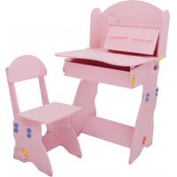 Wholesale 18.3KG Pink Solid Wooden Children'S Desk And Chair Set With Hidden Drawer from china suppliers