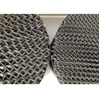 China Corrugated Metal Structured Packing Perforated Plate Large Surface Area on sale