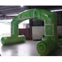 Wholesale Green Standard Free Standing Inflatable Arch , PVC Tarpaulin Inflatable Arch for Advertising from china suppliers
