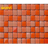 Wholesale Orange Wall Board Unique Swimming Pool Mosaic Tiles With Glossy Chip from china suppliers