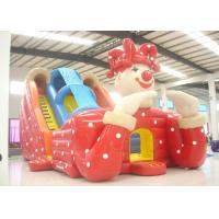 Big clown cartoon inflatable slide - inflatable long slide with arch for sale