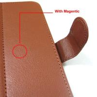 Coffee / red 7 inch soft pu material tablet mobile phone accessories leather case for PDA