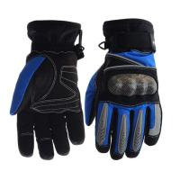 Buy cheap Palm - Microfiber Electric Motorcycle Parts Blue / Black Electric Motorcycle Gloves from wholesalers