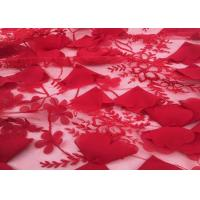 """Wholesale Red Embroidery Wedding Lace Fabric 3d Flower 50-51"""" Width For Home Textile from china suppliers"""