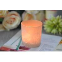 Wholesale Gifts Tealight Glass Candle Holder Orange Romantic Heat Resisting from china suppliers