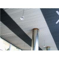 China Perforated Beveled Aluminium Strip Ceiling for sale