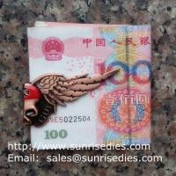Halloween Skull Bat Magnetic Folding Metal Money Clips